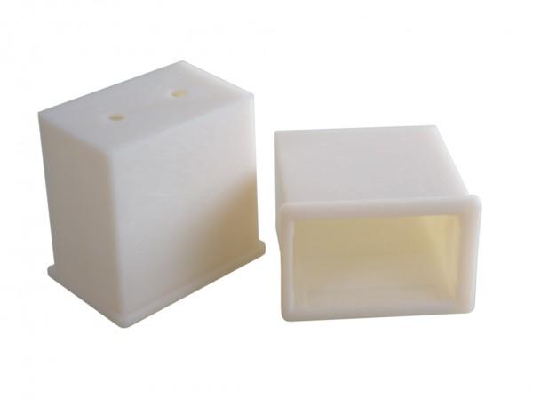 Schalldämm- und Schwingungshülse mit Boden 60 x 40 / 50 x 30 60 mm lang - 2er Pack