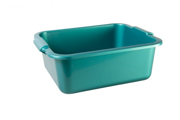 Schüssel 11 L blau, rosa und metallic grün, mit Griff