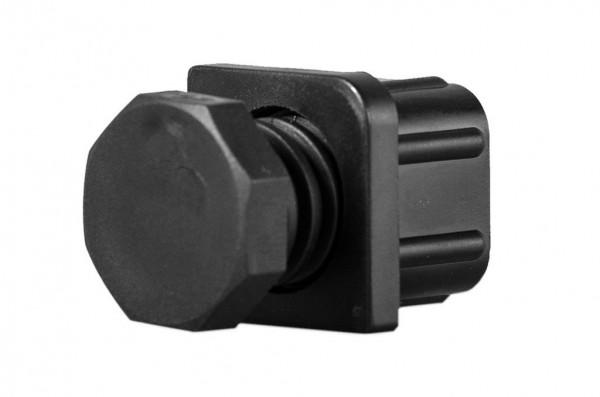 4er Pack Verstellgleiter für Vierkantrohr 30 x 30 mm, schwarz