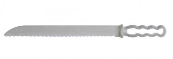 2 große Kunststoffmesser - Brotmesser