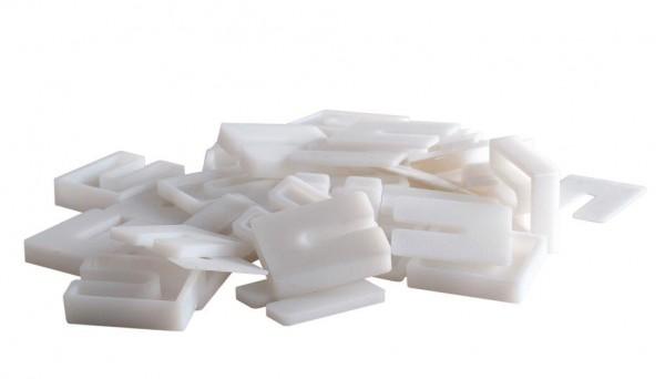 Set 50 weiße Abstandshalter PP/TPU Recycling